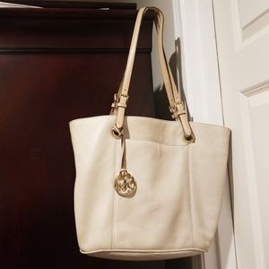 Cream Michael Kors bag